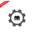elephant icon internet button on white background vector image vector image