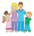 Family in Pajamas vector image vector image