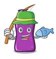 fishing shampo mascot cartoon style vector image