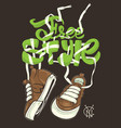 freestyle with sneakers shirt print vector image