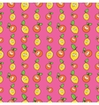 Fruits Seamless Background with Funny Oranges vector image vector image
