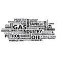 gas petrol industry word cloud vector image vector image