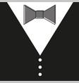 gentelman the bow tie - black background vector image