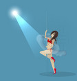 girl dancing striptease flat style vector image