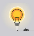 glowing light bulb icon vector image vector image
