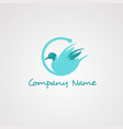 goose logo icon element and template for company vector image