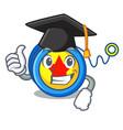 graduation yoyo character cartoon style vector image vector image