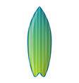 green surfboard icon cartoon style vector image vector image
