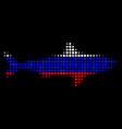 halftone russian shark icon vector image