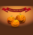 halloween night jack-o-lantern vector image