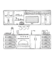Hand drawn kitchen furniture vector image vector image