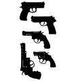 handguns vector image vector image