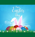 happy easter day design easter eggs vector image