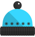 hat winter cap icon isolated on white vector image
