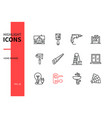 home repair - line design style icons set vector image vector image