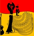 image of flamenko dance vector image vector image