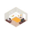 Isometric room interior with computer and vector image vector image