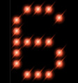 led digits 6 vector image vector image