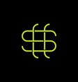 letter s money dollar thin line geometric logo vector image vector image