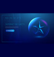 low poly star on blue background digital vector image