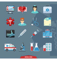 Medical And Healthcare Colorful Icons vector image vector image