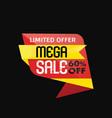 mega sale banner vector image vector image