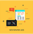 newspaper ads concept vector image