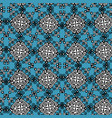 ornate paisley mandala seamless pattern in blue vector image