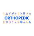 orthopedic minimal infographic banner vector image vector image