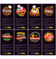 pizza restaurant and pizzeria vector image vector image