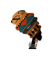 portrait afro woman in ethnic turban head wraps vector image vector image