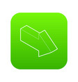 right arrow icon green vector image