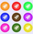 Rocket icon sign Big set of colorful diverse vector image