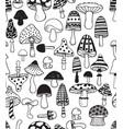 seamless mushrooms vector image