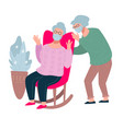 senior people wearing protective facial masks old vector image vector image
