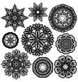set circle lace 1 380 vector image