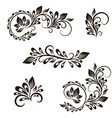 set decorative vintage elements vector image