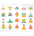 Set of colored geometric shapes triangles lines vector image vector image