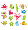 set of funny little monsters vector image vector image