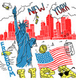 sketch america new york vector image vector image