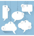 speech bubbles template vector image vector image