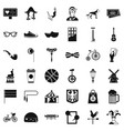 sporting bike icons set simple style vector image vector image