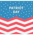 Star sky Red and white Strip ocean Patriot day vector image vector image