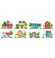 suburban house real estate facades holiday vector image vector image