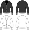Template outline of a blank cardigan vector image vector image