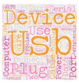 The Facts Of USB And USB Cables text background vector image vector image