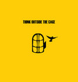 Think outside the cage vector image vector image