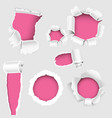 torn edges hole lacerated ragged paper edge and vector image vector image