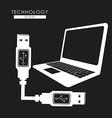 USB design vector image vector image