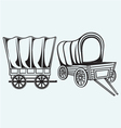 Vintage wagon to transport vector image vector image